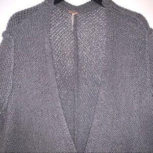FREE PEOPLE Gray Loose Knit Cardigan S/P